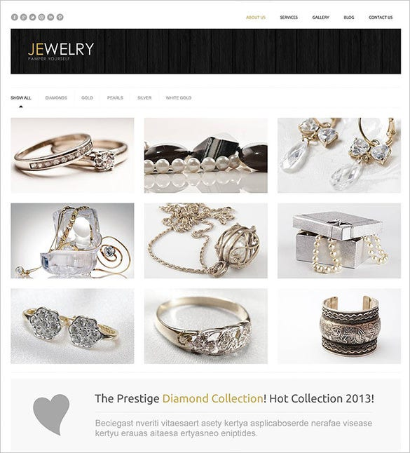 jewelry accessories wordpress template