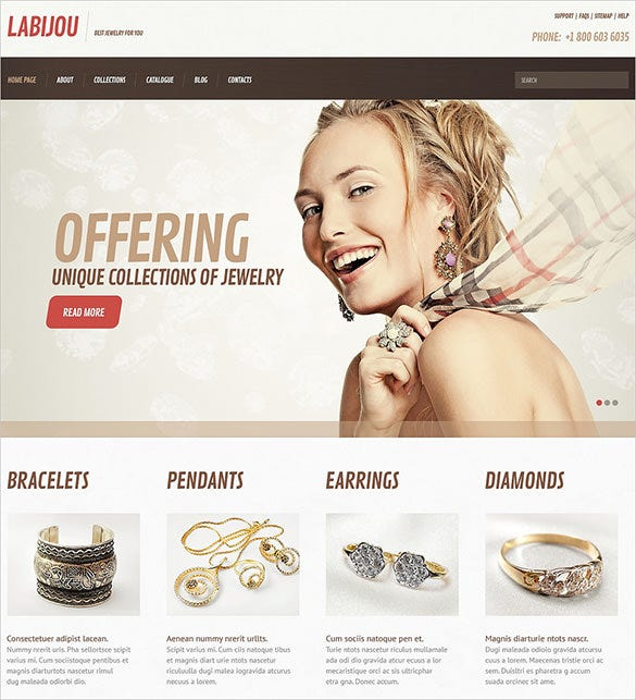 unique jewelry responsive wordpress theme