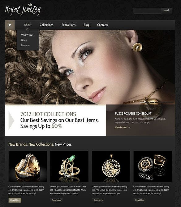 royal jewelry wordpress theme