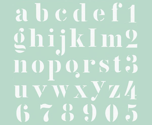 110 Old English Letter Stencil Template on large printable,