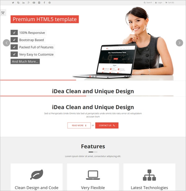 idea responsive website template theme