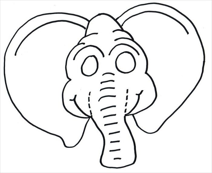 Elephant Mask Template  Face Masks Templates
