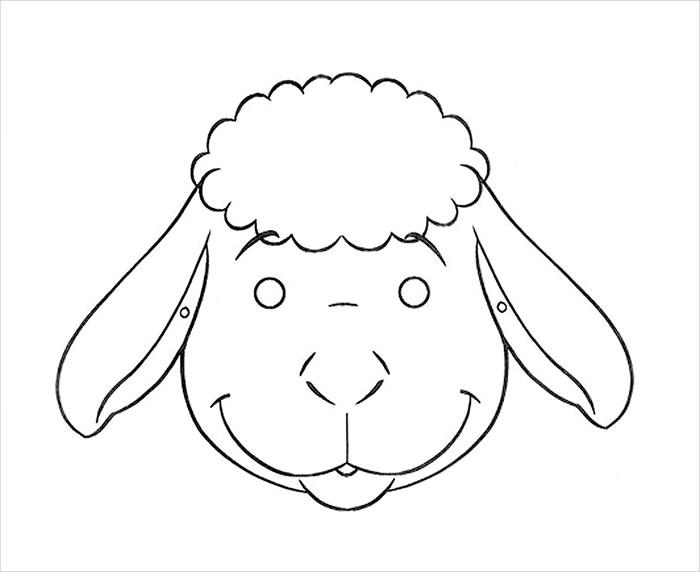 Sheep Mask Printable