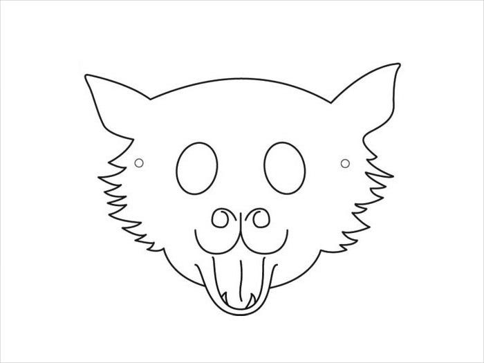 Sample Cat Mask Template For Kids  Face Mask Templates Printable