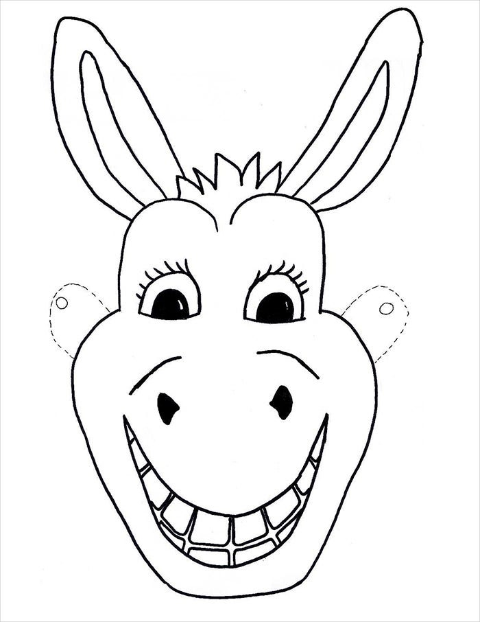 Donkey Mask Template  Face Mask Templates Printable