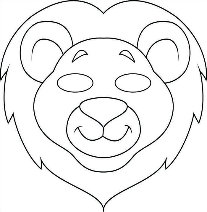 Image Gallery Lion Face Mask Template