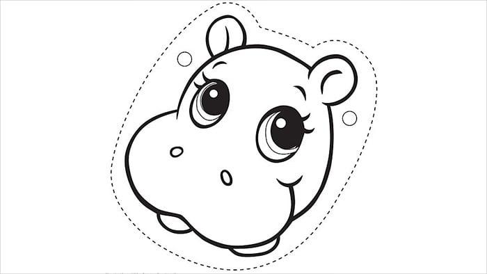 hippopotamus mask template