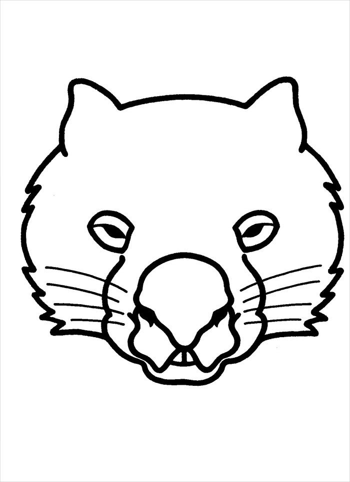 lion mask template download