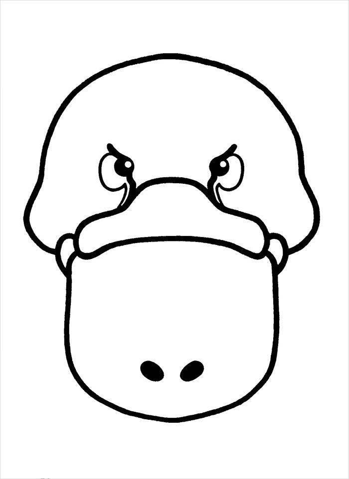 duck mask template