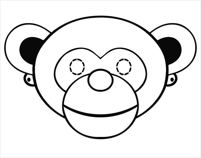 monkey mask template