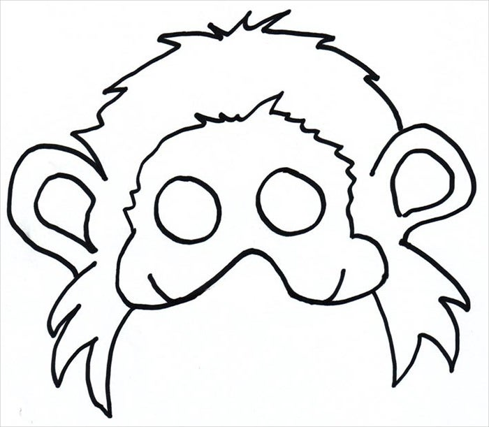 funny monkey mask template