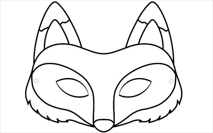 fox mask template download