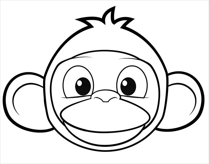 beautiful monkey mask template