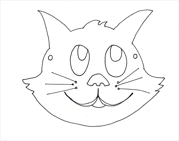 cat mask template download