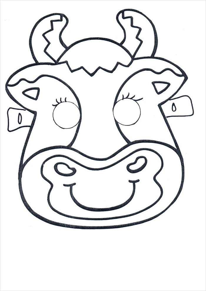 buffalo mask template