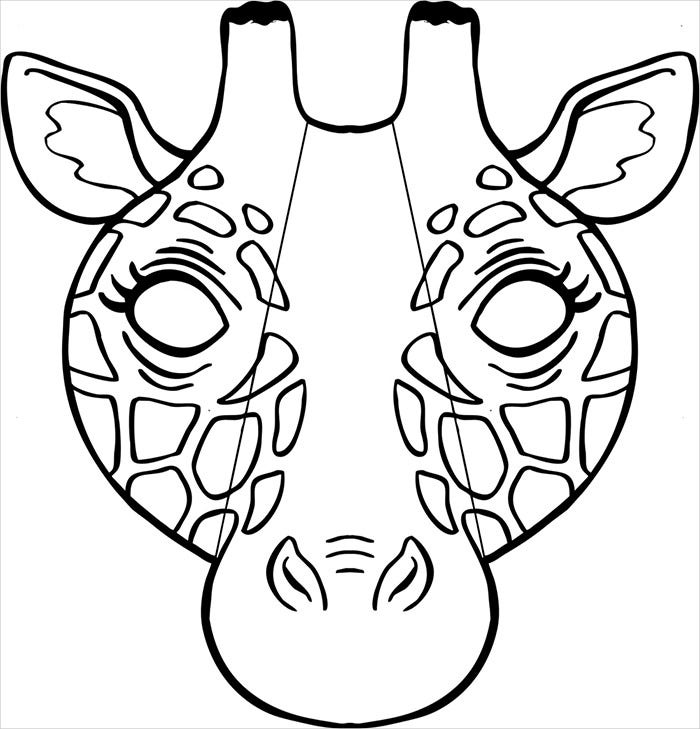 giraffe mask template