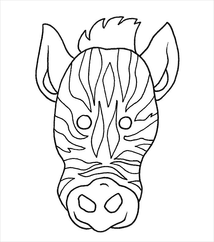 sample zebra mask template