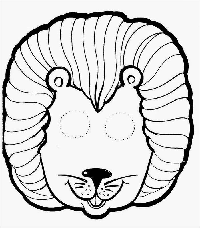 Beautiful Lion Mask Template