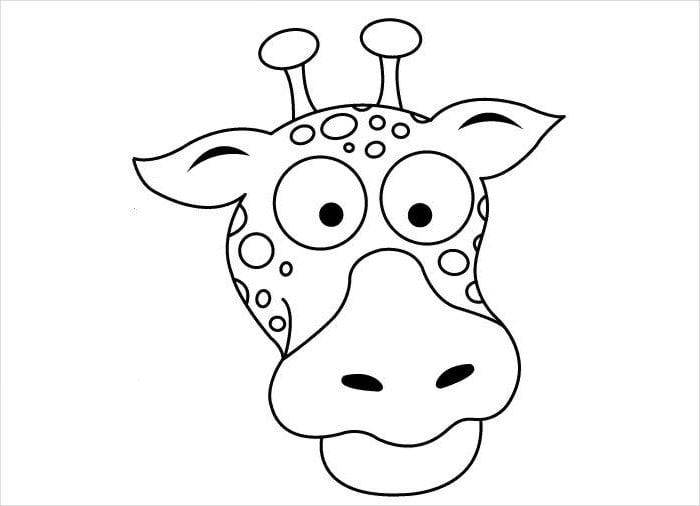giraffe mask tempalte