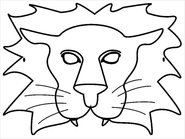 lion mask template downloads