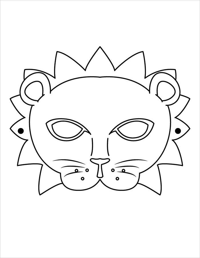 cartoon lion mask template
