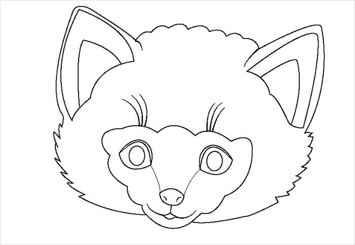Baby Sheep Mask Template
