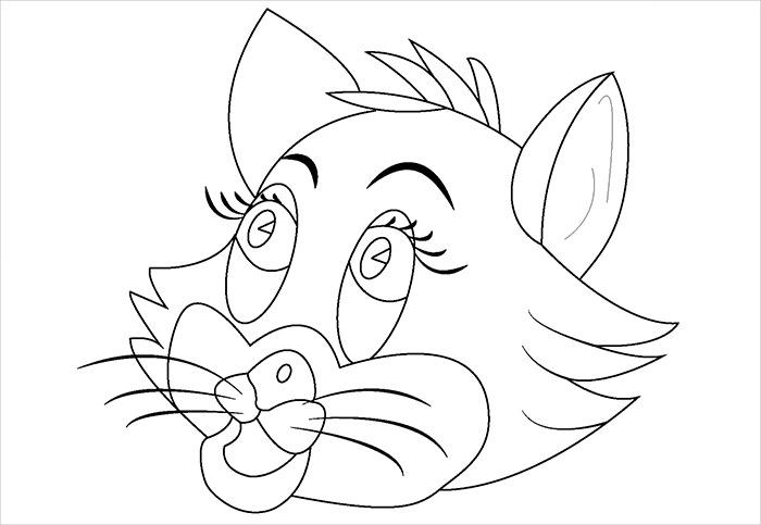 cartoon cat mask template