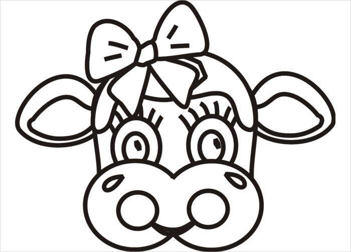 This is an image of Mesmerizing Printable Cow Mask