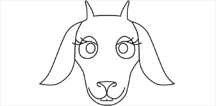 Goat Mask Template  Free Mask Templates