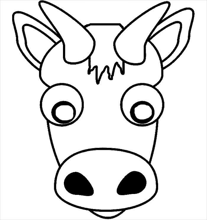 buffalo mask template download