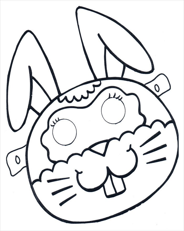 cute rabbit mask template
