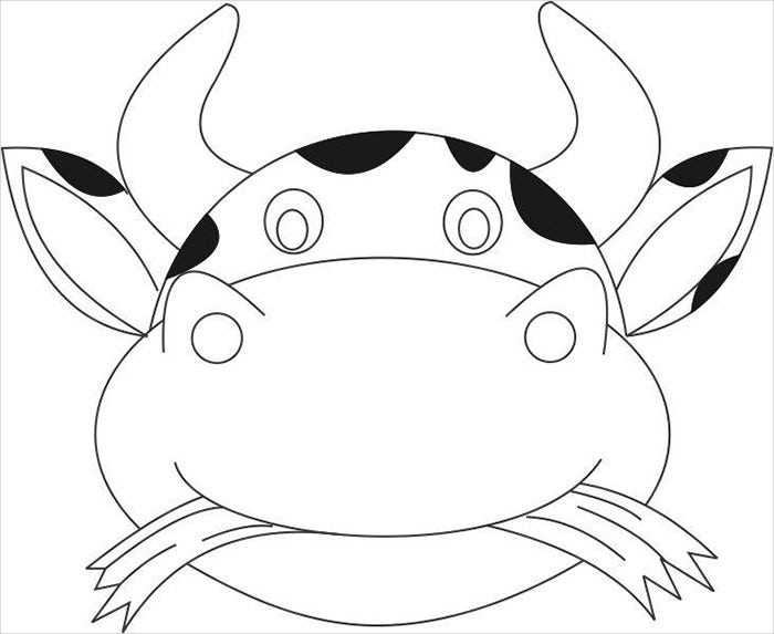 free animal mask template