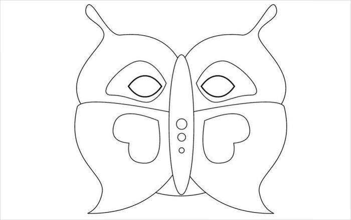beautiful butterfly mask template