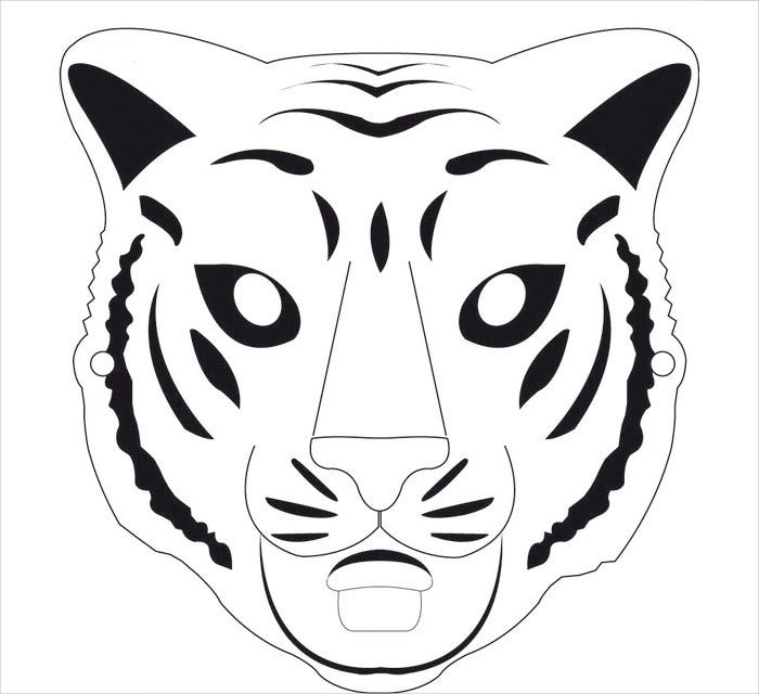 free tiger mask template