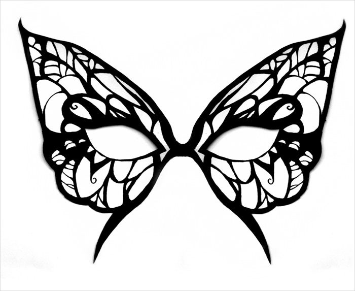 butterfly mask coloring page to print