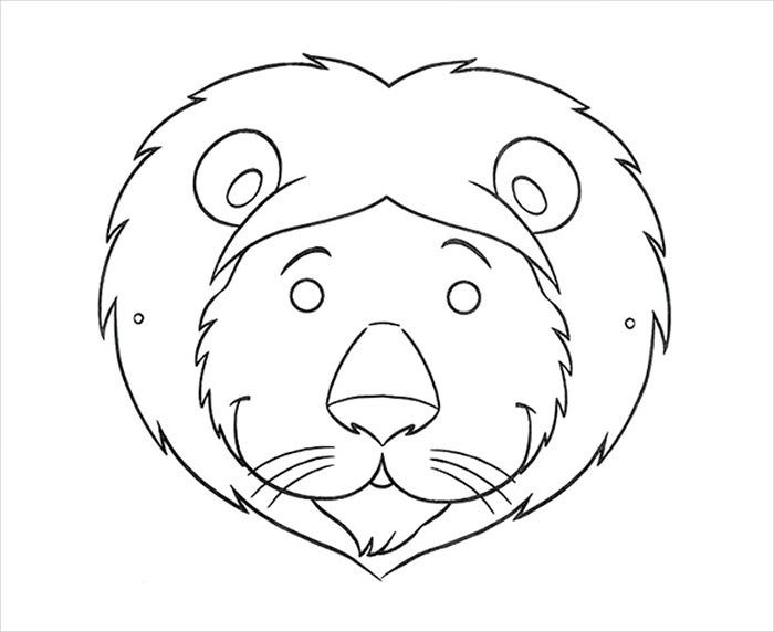 lion mask template1