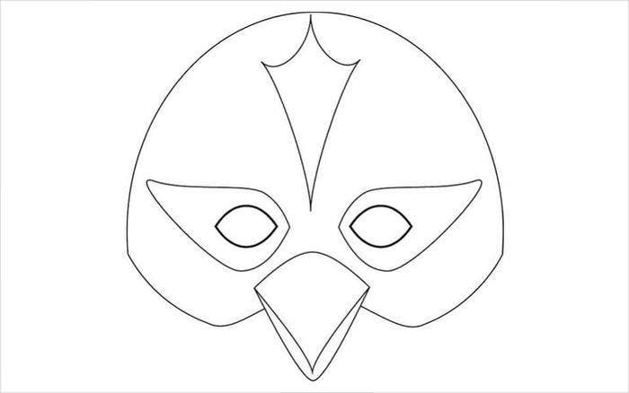 penguin mask template download