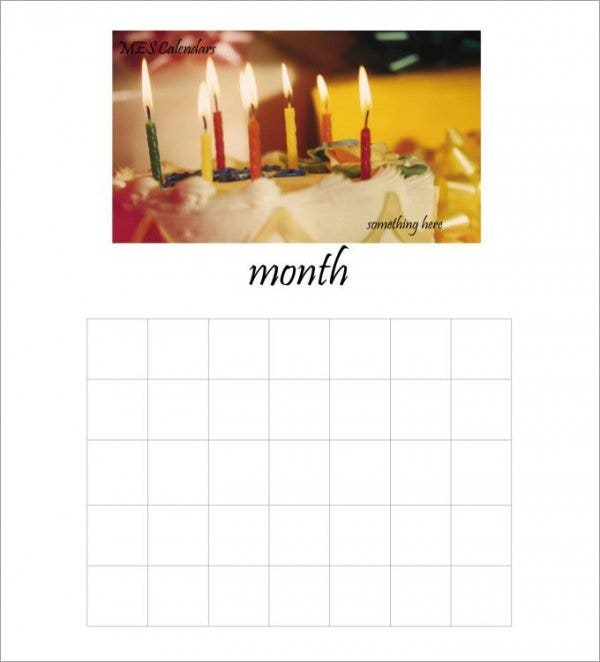 birthday calendar template211