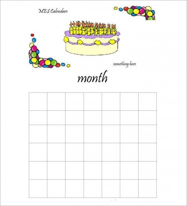 birthday calendar with cake11