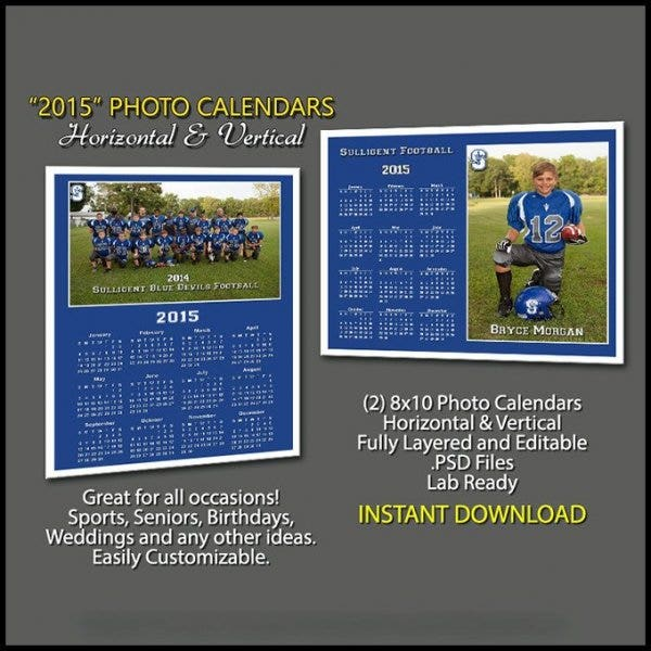 photo calendar template for birthday11