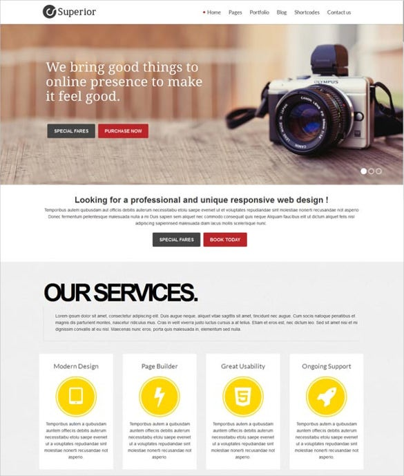 free superior multipurpose responsive html5 template