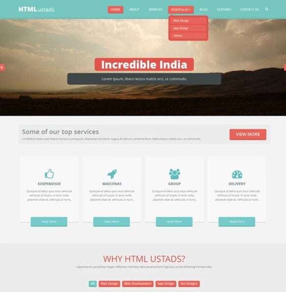 Bislite: free html website templates freebiesbug.