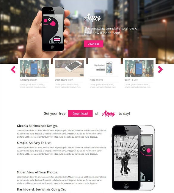free appz single page responsive html5 website template