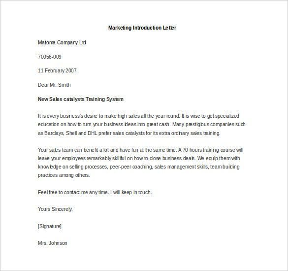 Introduction Letter. Introduction Letter Template 40 40+ Letter Of