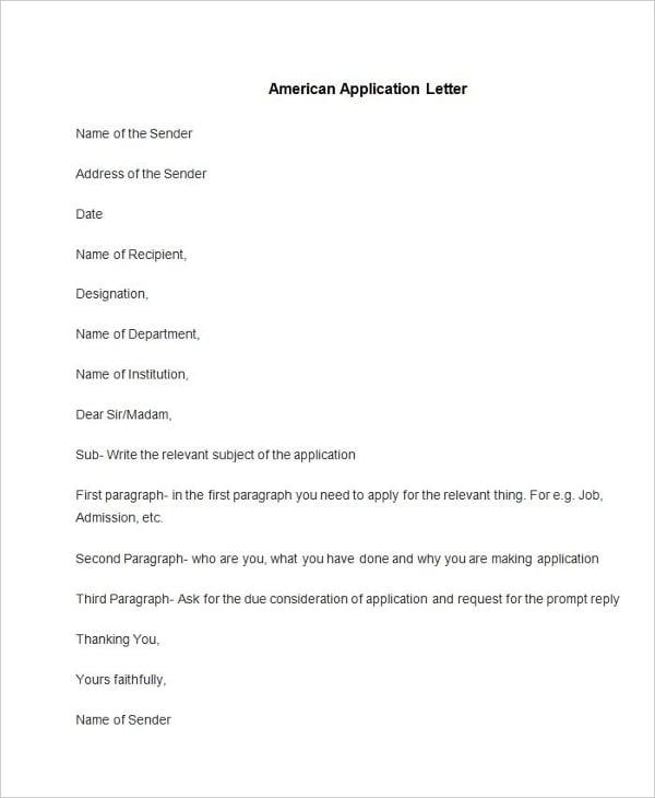 55+ Free Application Letter Templates | Free & Premium Templates