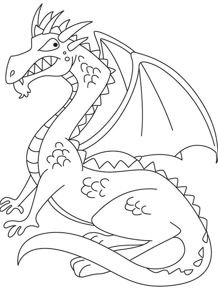 dragon gets by coloring pages - photo#19
