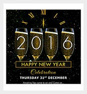 happy new year celebration greeting card template