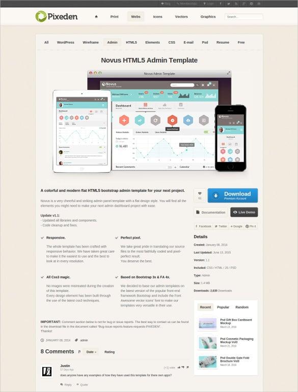 novus html5 admin template bootstrap1