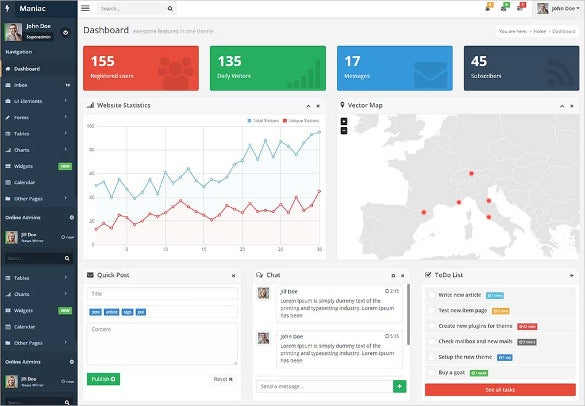 46 bootstrap admin themes templates free premium templates