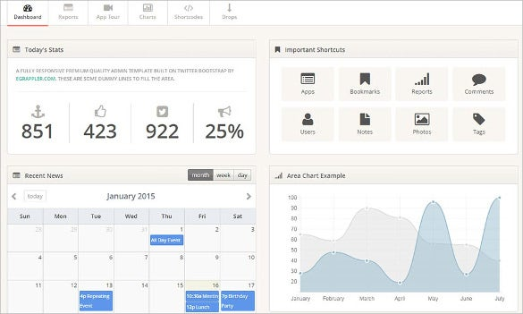 twitter bootstrap admin free download template
